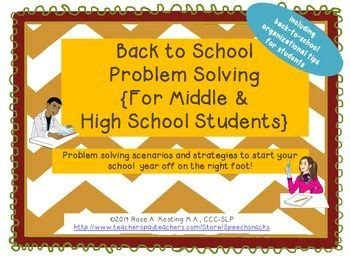 High School Students Problem Solving And Back To School