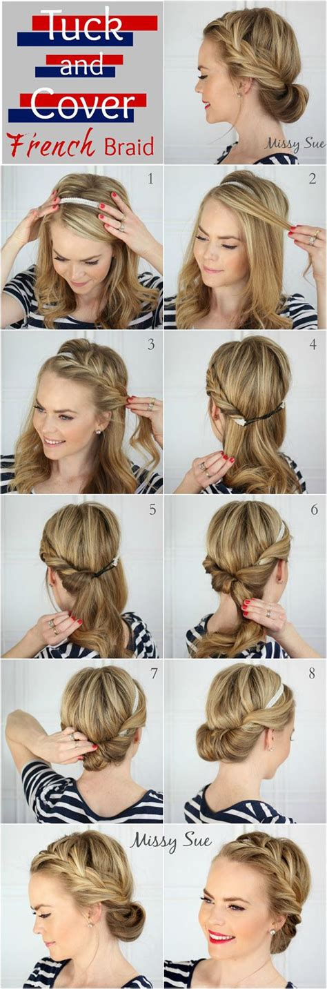 10 easy hairstyles for bangs to get them out of your face best 25 headband hairstyles ideas on pinterest hair styles headband headband updo and updo diy