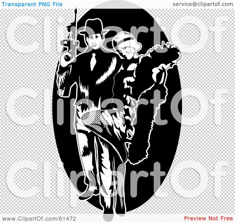 royalty free rf clipart illustration of a gangster