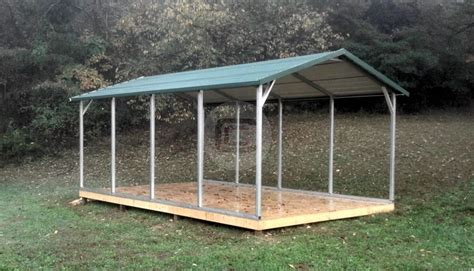 12x21x6 a frame boxed eave standard carport