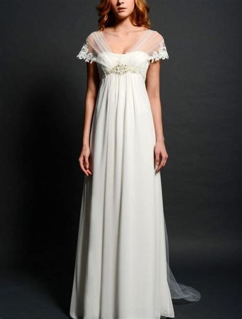 Empire Style Wedding Dresses by Empire Style Wedding Dresses With Sleeves