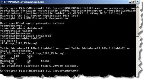 sql script to compare data in two tables 2 sql server compare the data in two tables without any