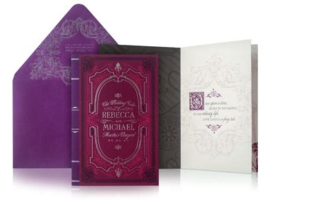 Book Cover Wedding Invitations by And Michael Martha S Vineyard Fairytale Inspired