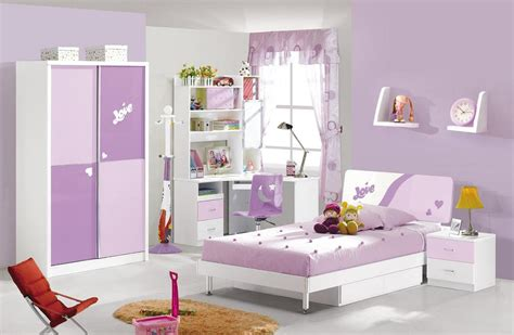 Children Bedroom Furniture Set Kid Bedroom Purple And Soft Purple Bedroom Furniture Set