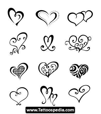 tiny heart tattoo designs open pictures 05 open