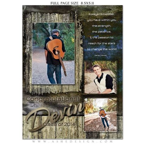 Senior Yearbook Ads Yearbooks And Photoshop On Pinterest Half Page Ad Template Photoshop