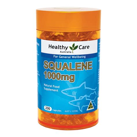 buy healthy care squalene 1000mg 200 capsules online at