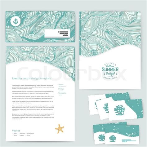 paper card wave template vector corporate identity wave pattern abstract backdrop