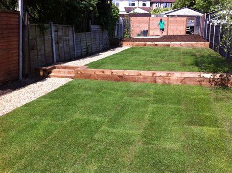 Two Level Backyard Landscaping Ideas by Dreaming Green Ltd 100 Feedback Landscape Gardener In