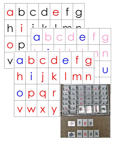 Printable Moveable Alphabet | simply montessori the moveable alphabet lots of wallet