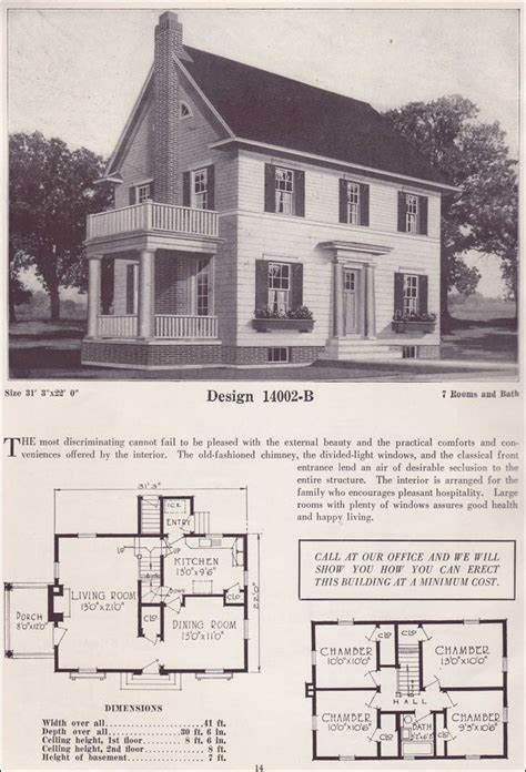 Colonial Revival House Plans | 1000 images about sears catalogue homes and floorplans on