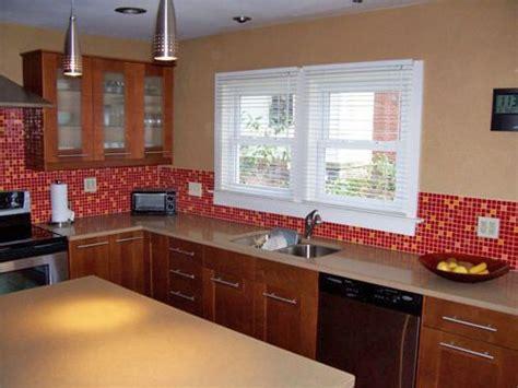 red kitchen tile backsplash red and yellow bijou kitchen backsplash tiles tlc