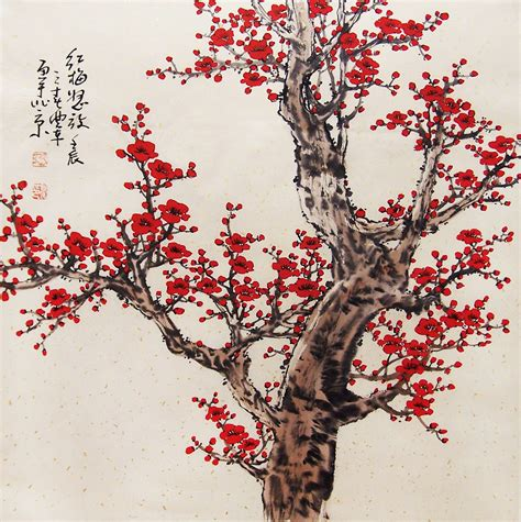 asian painting images original painting lovely cherry