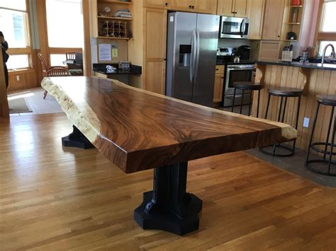 live edge slab dining room table buy a handmade live edge dining slab table custom made to