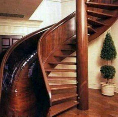 spiral stair and slide inside and outside pinterest