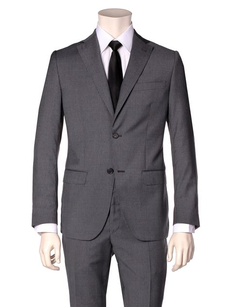 Valentino Suit valentino suit pinstriped grey in gray for pinstriped