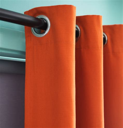 Orange Curtains Ikea Spicy Window Treatment