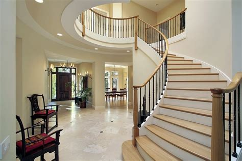 Dining Room Round Table amazing luxury foyer design ideas photos with staircases