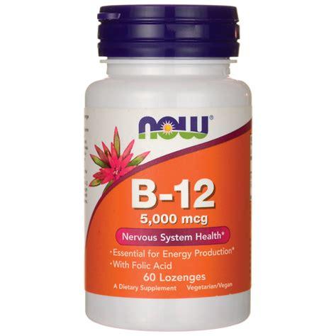 Vitamin Folic Acid now foods vitamin b 12 folic acid 5 000 mcg 60 lozenges