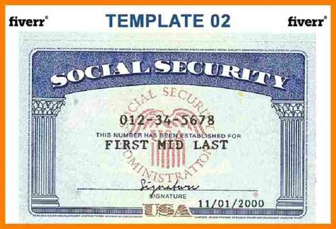 social security card template free blank social security card template template design