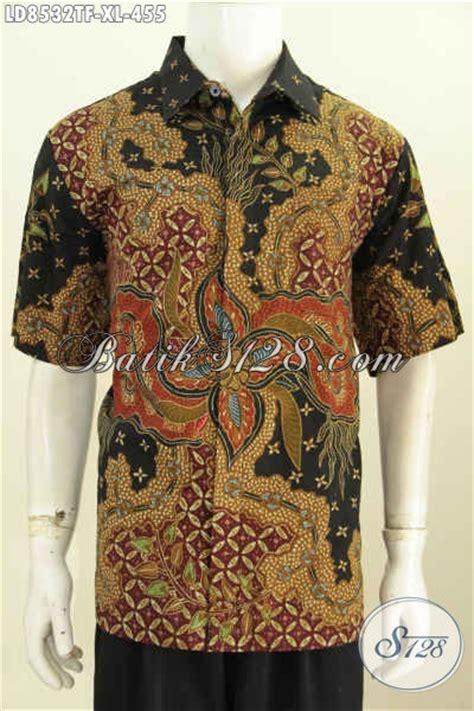 Kameja Batik Premium baju batik hem halus lengan pendek kemeja batik kerja premium untuk pria dewasa daleman