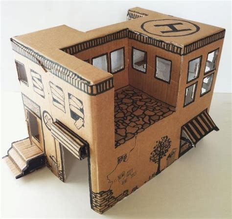 diy small cardboard box papermau how to make a simple cardboard box house