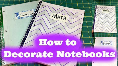 Decorating Notebooks For School by How To Decorate Your School Notebooks Back To School