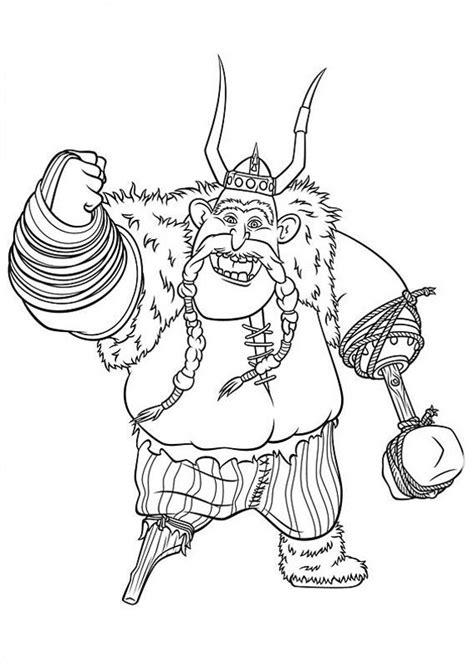 Desenho de Bocão de Como treinar seu dragão para colorir
