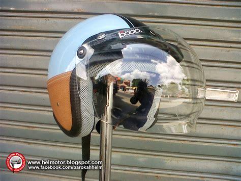 Helm Retro Vespa Classic Biru Hitam Kacamata helm vespa ksc biru garis hitam helm vespa