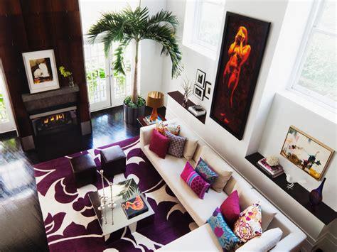 bold modern living room diego alejandro rincon hgtv