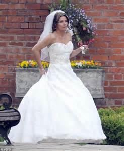 Christmas wedding bells coronation street s carla connor wears