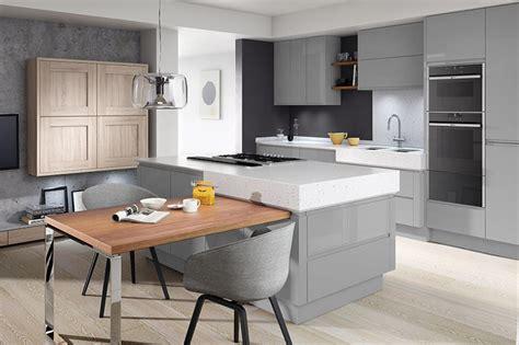 modern grey kitchen cabinets second nature contemporary kitchencraft