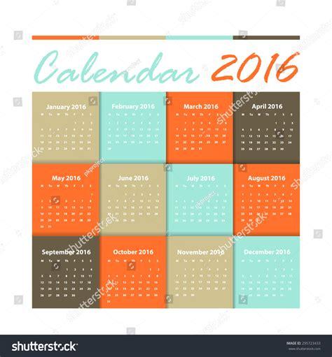 english calendar 2016 design stock vector image 61777684 calendar 2016 vector earthtone design stock vector