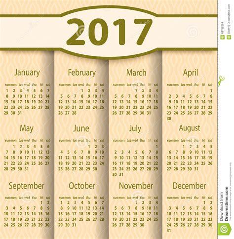 design calendar template 2017 calendar 2017 year vector design template stock vector