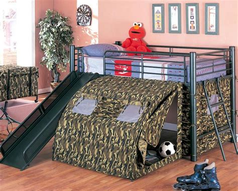 coaster loft bed coaster furniture loft bed with slide and tent in black