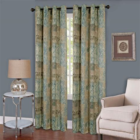50 x 63 curtain panels achim vogue blue grommet window curtain panel 50 in w x