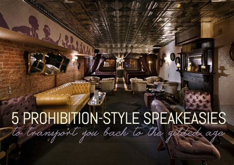 1920s Home Decor 5 Prohibition Style Speakeasies To Transport You Back To