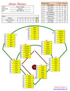 baseball fielding lineup template lineup manager free and software reviews cnet