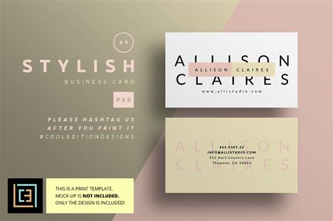 stylish business cards templates stylish business card 89 business card templates on