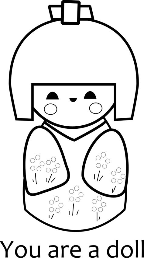 coloring pages kokeshi dolls free printable kokeshi doll coloring page paper and the