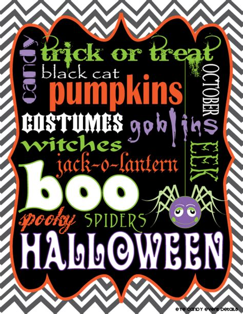 free printable halloween wall decorations 38 halloween printable activities decor tip junkie