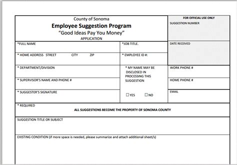 employee suggestion box form template employee suggestion programs a complete guide for city