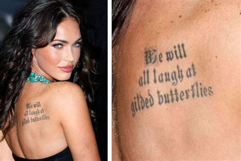 megan fox tattoos 40 megan fox tattoos slodive