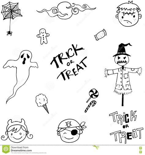 doodle ghost doodle of ghost and stock vector image