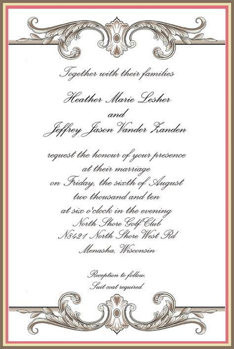 official invitation card template details a professional planning company the importance