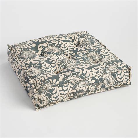 floor cusion wild hibiscus tufted floor cushion world market