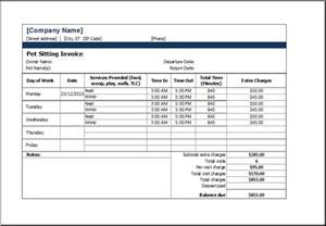veterinary invoice template ms excel printable pet sitting invoice template excel