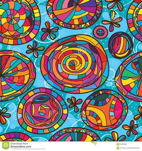 pattern single color seamless circle pattern dark blue single color stock image