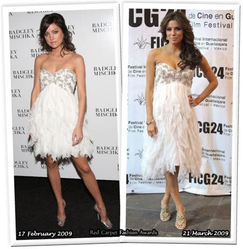 Who Wore Better Carpet Style Awards by Who Wore Badgley Mischka Better Stroup Or