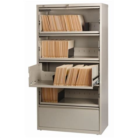 5 Drawer Lateral File Cabinet File In Putty 17901 5 Drawer Lateral File Cabinets